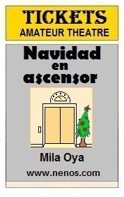 Navidad en ascensor por Mila Oya